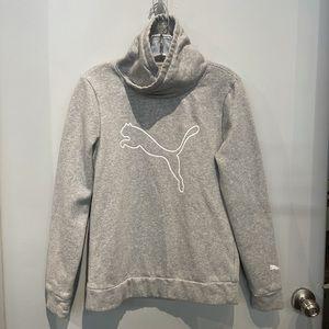 Light Gray Puma Pullover Hoodie